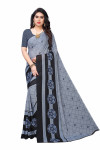 Grey Festive Wear Printed Saree