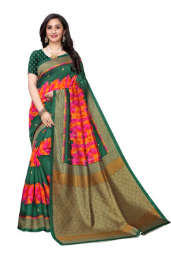 Joya Silk Sarees - Buy Designer Red Printed Joya Silk Sarees For Womens Online in India | Ethnicbazaar