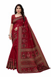 Joya Silk Sarees - Buy Designer Maroon Printed Joya Silk Sarees For Womens Online in India | Ethnicbazaar