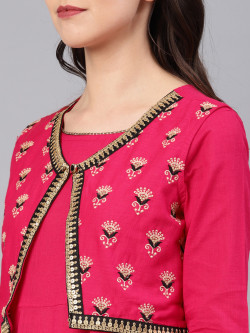 Indian Ethnic Wear Dress - Buy Traditional Fuchsia Indian Ethnic Dress For Womens in India | Ethnicbazaar