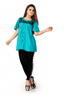 Buy Latest Western Wear Blue Tops in India | Ethnicbazaar