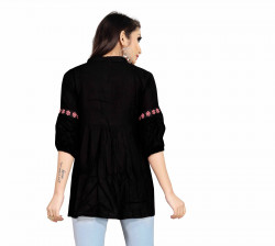 Womens Western Wear Online - Buy Latest Western Wear Black Tops in India | Ethnicbazaar