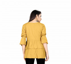 Womens Western Wear Online - Buy Latest Western Wear Yellow Tops in India | Ethnicbazaar