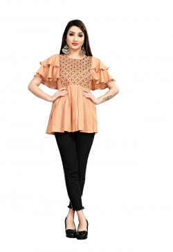 Womens Western Wear Online - Buy Latest Western Wear Orange Tops in India | Ethnicbazaar