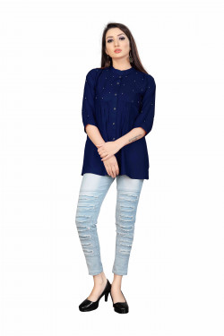 Womens Ethnic Wear Online - Buy Latest Western Wear Black Tops in India | Ethnicbazaar