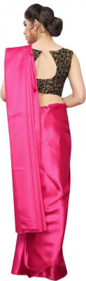 Buy Designer Pink Satin Sarees For Womens Online in India at Ethnic Bazaar