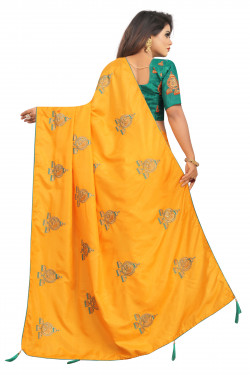 Buy Designer Yellow Georgette Sarees For Womens Online in India at Ethnic Bazaar