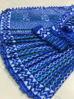 Buy Designer Blue kota masuria Sarees For Womens Online in India| Ethnicbazaar