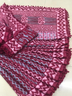 Buy Designer Maroon kota masuria Sarees For Womens Online in India| Ethnicbazaar
