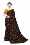 Black Festive wear Printed Saree