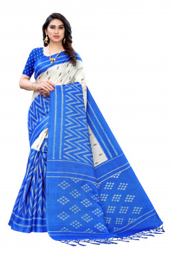 Khadi Jhalar Sarees - Buy Khadi Jhalar Printed Sarees For Womens Online in India | Ethnicbazaar