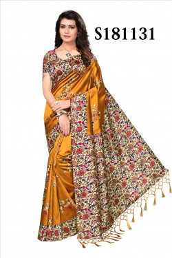 Art Silk Sarees - Buy Designer Rust Art Sarees For Womens Online in India | Ethnicbazaar