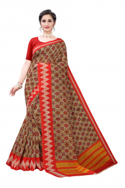Joya Silk Sarees - Buy Designer Brown Printed Joya Silk Sarees For Womens Online in India | Ethnicbazaar