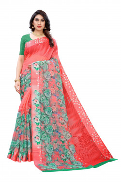Satin Sarees - Buy Designer Pink Printed Satin Sarees For Womens Online in India | Ethnicbazaar