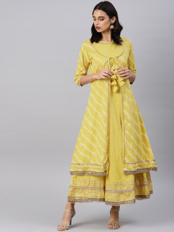 Indian Ethnic Wear Dress - Buy Traditional Yellow Indian Ethnic Dress For Womens in India | Ethnicbazaar