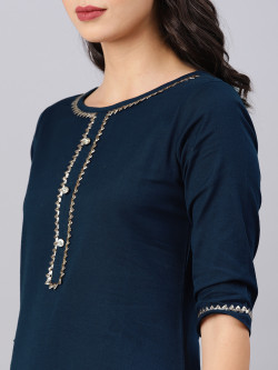 Indian Ethnic Wear Dress - Buy Traditional Navy Blue Indian Ethnic Dress For Womens in India | Ethnicbazaar