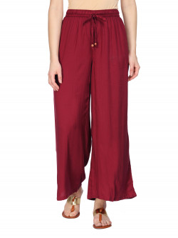 Buy Latest Solid Palazzos Pants For Womens Online in India | Ethnicbazaar