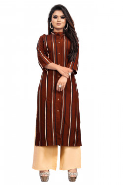 Womens Ethnic Wear Online - Buy Latest Ethnic Wear Crepe Maroon Kurta with Palazzo in India | Ethnicbazaar