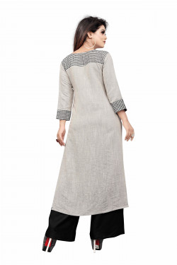 Womens Ethnic Wear Online - Buy Latest Ethnic Wear Cotton blend White Kurta with Palazzo in India | Ethnicbazaar