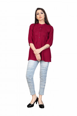 Womens Western Wear Online - Buy Latest Western Wear Red Tops in India | Ethnicbazaar