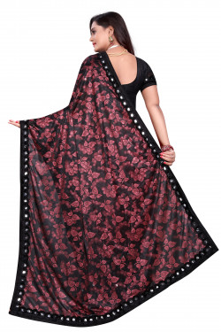 Buy Designer Maroon Lycra Blend Sarees For Womens Online in India at Ethnic Bazaar