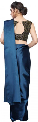 Buy Designer Dark Blue Satin Sarees For Womens Online in India at Ethnic Bazaar