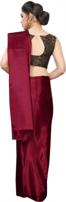 Buy Designer Maroon Satin Sarees For Womens Online in India at Ethnic Bazaar