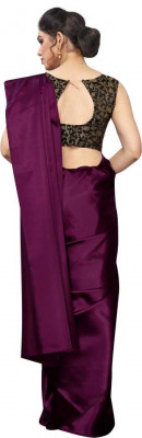Buy Designer Purple Satin Sarees For Womens Online in India at Ethnic Bazaar