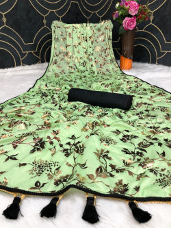 Buy Designer GreenSarees For Womens Online in India at Ethnic Bazaar