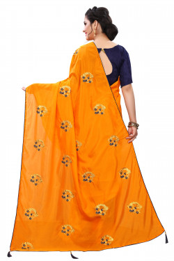 Buy Designer Mustard Georgette Sarees For Womens Online in India at Ethnic Bazaar
