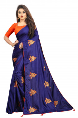 Buy Designer Navy Blue Georgette Sarees For Womens Online in India at Ethnic Bazaar