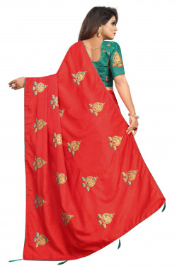 Buy Designer Red Georgette Sarees For Womens Online in India at Ethnic Bazaar