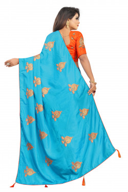 Buy Designer Sky Blue Georgette Sarees For Womens Online in India at Ethnic Bazaar