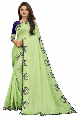 Buy Designer Pista GreenSarees For Womens Online in India at Ethnic Bazaar
