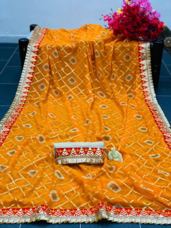Buy Designer Yellow Chiffon Sarees For Womens Online in India| Ethnicbazaar
