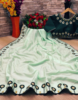 Buy Designer GreenDolla Sarees For Womens Online in India| Ethnicbazaar