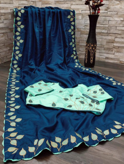 Buy Designer Navy BlueDolla Sarees For Womens Online in India| Ethnicbazaar