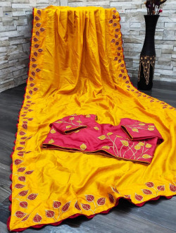 Buy Designer YellowDolla Sarees For Womens Online in India| Ethnicbazaar