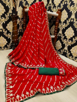 Buy Designer Red dolla silk Sarees For Womens Online in India| Ethnicbazaar
