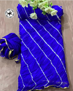 Buy Designer Blue nazmeen ciffon Sarees For Womens Online in India| Ethnicbazaar