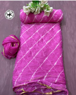 Buy Designer Pink nazmeen ciffon Sarees For Womens Online in India| Ethnicbazaar