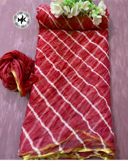 Buy Designer Red nazmeen ciffon Sarees For Womens Online in India| Ethnicbazaar