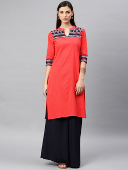 Alena Womens Orange Fashion Kurta