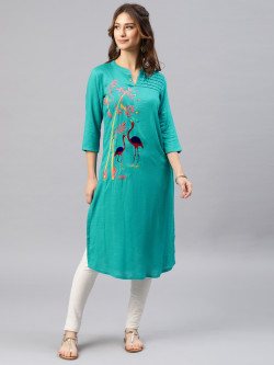 Alena Womens Spectra Green Fashion Kurta