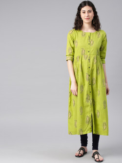 Alena Womens Lime Fashion Kurta