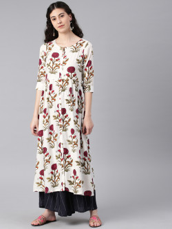 Alena Womens Fushia Fashion Kurta
