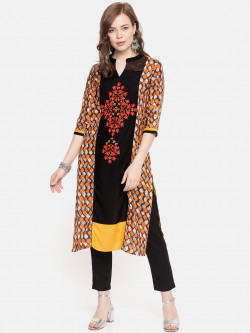 Alena Womens Mustard Fashion Kurta