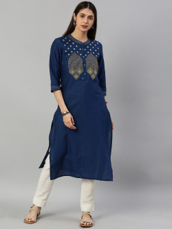 Alena Womens Navy Fashion Kurta