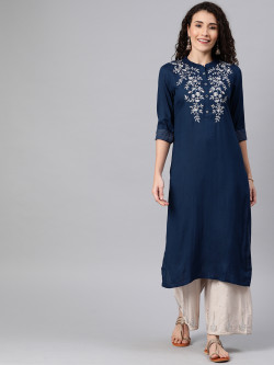 Alena Womens Navy Blue Fashion Kurta