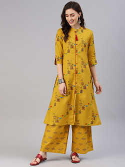 Alena Women Yellows Kurta with Palazzo